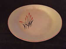 """Vintage Universal Cattails Oval Platter 12"""" X 10"""" Made For Sears"""