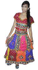 Indian Banjara Dress 100% Cotton Women Ethnic mirror work Multi Color Plus Size