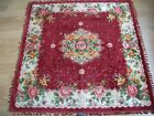 SILK VELVET - TABLE COVER - 120X122 CM  good condition and solid