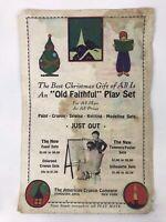 Vintage American Crayon Company Old Faithful Play Set Print Ad Sandusky Ohio