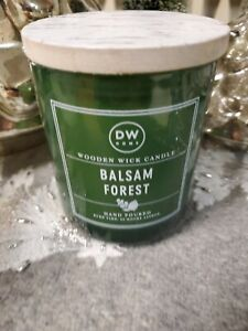DW Home BALSAM FOREST Wood Wick Candle 9.3 oz  for Christmas / Winter