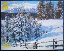 jigsaw puzzle 500 pc Saw Tooth Mountains winter snow Golden Guild Dick Dietrich