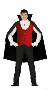Mens Count Dracula Gothic Vampire Halloween Fancy Dress Costume Adults Outfit