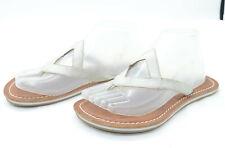 Bernardo Womens Sz 7.5 Leather Shimmer Summer Cocktail Thong Flip Flop Sandals