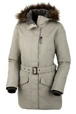 NEW COLUMBIA Women's S Beverly Mountain Waterproof Omni Heat Jacket Coat Ecru