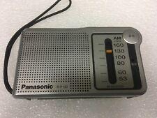 Panasonic R-P130 AM Portable Pocket Silver Radio - Works Great