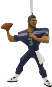 Hallmark NFL Seattle Seahawks Russell Wilson Christmas Ornament