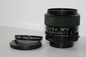 Vivitar 35mm f2.8 Wide Angle Prime Lens. Universal M42 Screw Mount.
