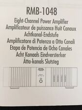 Rotel RMB-1048 8 channel Power Amp Owners Manual 5 Pages of English rmb1048