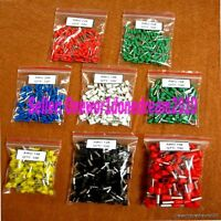 800Pcs Assorted Size Wire Copper Crimp Connector Insulated Cord Pin End Terminal