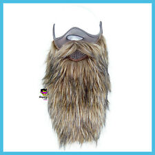 Brown Half Neoprene Ski Snowboard Motorcycle Biker Warm Funny Beard Face Mask +