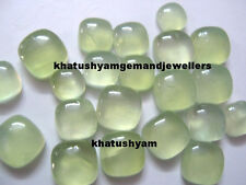 AAA Quality 15 Piece Natural Prehnite 8X8 MM Cushion Cabochon Loose Gemstone