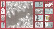 Moda Winter's Lane by K&B 13090 12 Red 24'' PANEL Cotton Fabric FREE US SHIPPING