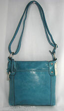 NEW FOSSIL HATHAWAY BLUE GENUINE LEATHER CROSS BODY, SHOULDER BAG,HANDBAG