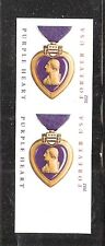 2012 #4704 Purple Heart Medal Without Die Cut Pair from the Press Sheet