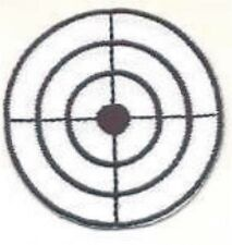 Shooting Bullseye Target with Cross Hairs Embroidery Applique Patch