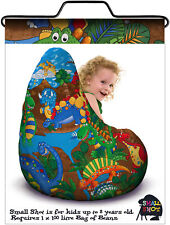Child bean bag cover, Dino print