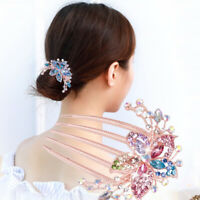 Comb Flower Hair Accessory Women Elegant Hot Hairpin Rhinestone Headwear Inlaid