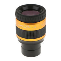 """1.25"""" SWA Super Wide Angle 70-Deg 27mm Achromatic Eyepieces for Astronomical"""