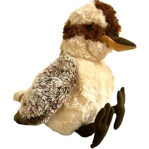 Minkplush Brown Kookaburra Bird Soft Plush Toy Little Banjo 27cm Tomfoolery
