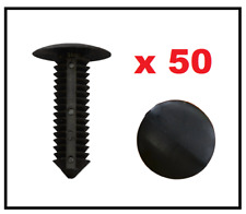 50 x BLACK FIR TREE CLIPS BUMPER PANEL TRIM FASTENERS RETAINERS for 9mm HOLE