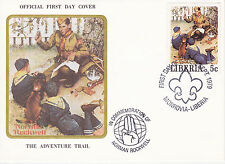 1979 LIBERIA SCOUTING / NORMAN ROCKWELL COMMEM.FDC COVER - THE ADVENTURE TRAIL