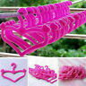 20* Plastic Kawaii Pink Hangers Accessories Gifts  for Doll Dress Clothes P H1U0