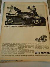 PUB Alfa Roméo Giulia 1600 Sprint GT Advert Print 1966