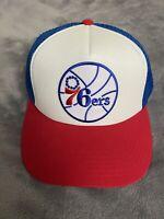 PHILADELPHIA 76ers SIXERS VINTAGE NBA Embroidered Logo Cap Trucker Snapback NEW