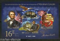 TOGO 2015 150th MEMORIAL ANNIVERSARY OF ABRAHAM LINCOLN  SHEET MINT NH
