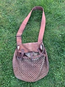 """Brady Game Bag Canvas And Leather Shooting/Fishing Appx 15""""x10"""""""