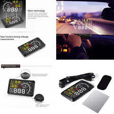 HUD Car Head UP Display Fuel Speed Warning System Windshield Project OBD2 5.5""