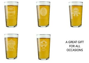 Personalised Pint Glass Choose Design For All Occasions #2