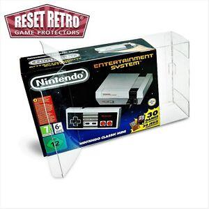 3x PET Box Schutzhüllen Clear/Protektor Nintendo NES Classic Mini 0,5 mm Stärke