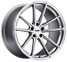 17x8/9 TSW Bathurst 5x114.3 + 40 Silver Rims Fits Rx8 Is250 Gs300