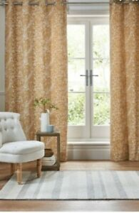 Next Chenille Woodland Animal Curtains 66 X 90 Ochre Yellow
