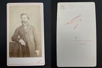 Nadar, Paris, Guiseppe Verdi Vintage carte de visite, CDV.  Tirage albuminé