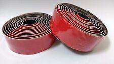 Red Handlebar Tape for Road Bike & End Plugs, Grip Tape