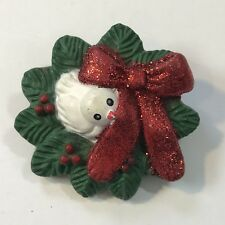 Vintage Fun World Dove in Wreath Christmas Pin Brooch - We Combine Shipping !