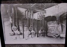 1898 - SOHO FOUNDRY LONDON Retort Bench - Original Lantern Glass Photo Slide