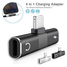 Para iPhone 8 7 2 X 1 iPhone Enchufe Plus al adaptador de auriculares dual cable de carga