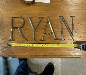 Brass Shop Sign Letters RYAN