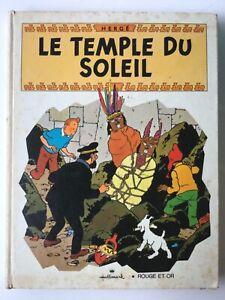 Livre animé - Tintin le temple du soleil - Hergé - 1969