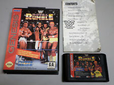 WWF Royal Rumble _ SEGA Genesis game w/ case and manual - GENUINE - tested