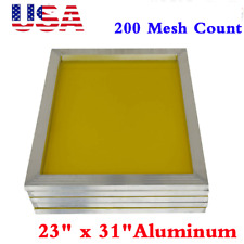 Usa 6pack 23 X 31 Aluminum Silk Screen Printing Frame With 200 Yellow Mesh