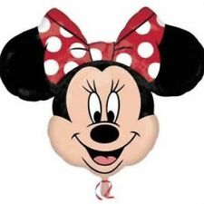 "DISNEY Minnie Mouse Testa Palloncino Rosso Fiocco Supershape 23.5"" x 30"" Foil Balloon!"
