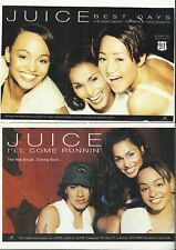Juice - Music Magazine Advert Cuttings (1990's Girl Group)