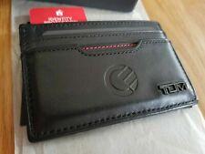 Genuine Tumi Men's RFID ID Protection Slim Wallet (Curve Branded) Gen Leather