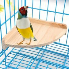 Mrli Pet Bird Perch Platform Stand Wood for Small Animals Parrot Parakeet Rat
