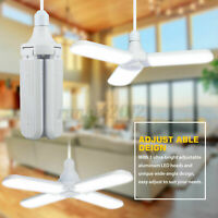 20000LM 5+1 Blades Deformable LED Garage Light E27 Adjustable Shop Ceiling  Y